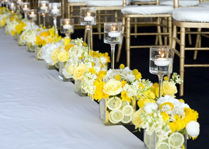 yellow-and-white-wedding-ceremony-decorations