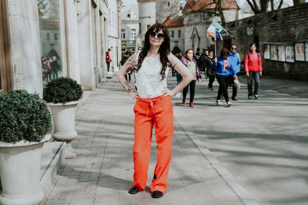 64f4bffce6d Ja need punased püksid – kui tuusad, eks! Nii palju komplimente sain neid  kandes (panin kohe Triinu sünnale jalga ka need) ja ise tundsin ennast ka  neis ...